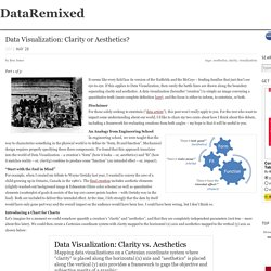 Data Visualization: Clarity or Aesthetics?