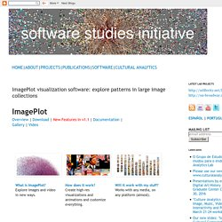 ImagePlot visualization software: explore patterns in large image collections