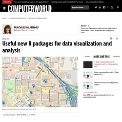 Useful new R packages for data visualization and analysis