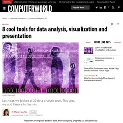 8 cool tools for data analysis, visualization and presentation
