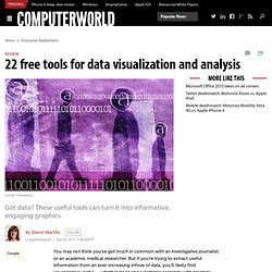 22 free tools for data visualization and analysis