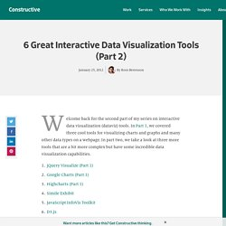 6 Great Interactive Data Visualization Tools (Part 2)