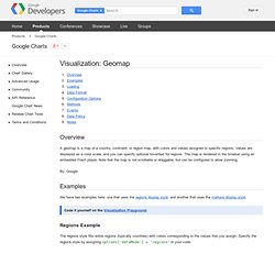 Visualization: Geomap - Google Chart Tools