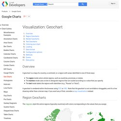 Visualization: Geochart - Google Charts