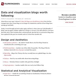 Data and visualization blogs worth following