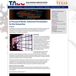 Texas Advanced Computing Center - Visualización avanzada para las Humanidades: A Thousand Words