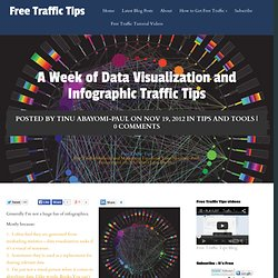 A Week of Data Visualization and Infographic Traffic Tips