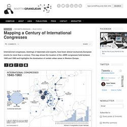 Martin Grandjean » Digital humanities, Data visualization, Network analysis » Mapping a Century of International Congresses