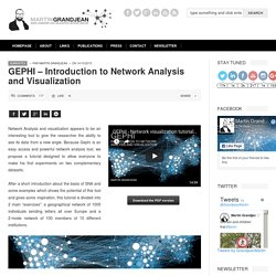 Martin Grandjean » Digital humanities, Data visualization, Network analysis » GEPHI – Introduction to Network Analysis and Visualization