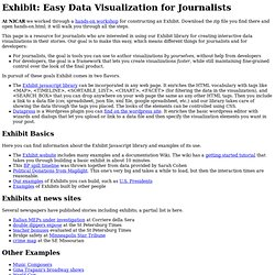 Exhibit: Data Visualization for Journalists