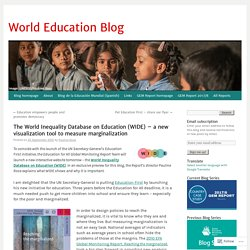 The World Inequality Database on Education (WIDE) – a new visualization tool to measure marginalization