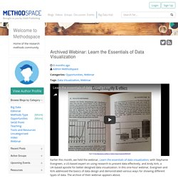 Archived Webinar: Learn the Essentials of Data Visualization - MethodSpace