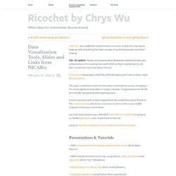 Data Visualization Tools, Slides and Links from NICAR11 // Ricochet by Chrys Wu