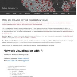 Static and dynamic network visualization with R