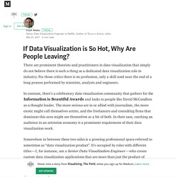 If Data Visualization is So Hot, Why Are People Leaving?