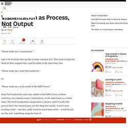 Visualization as Process, Not Output