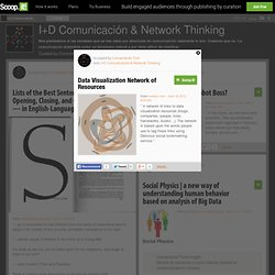 Data Visualization Network of Resources | I+D Comunicación & Network Thinking