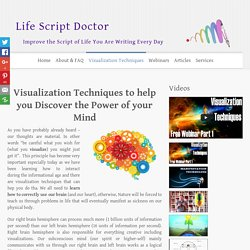 Visualization Techniques based on the new Spiritual Science