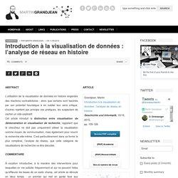 Martin Grandjean » Digital humanities, Data visualization, Network analysis » Introduction à la visualisation de données : l'analyse de réseau en histoire