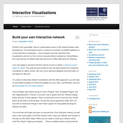 Interactive Visualizations | For teaching, research, and dissemination
