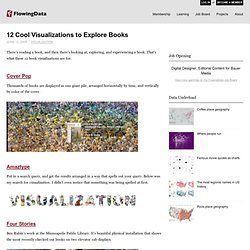 12 Cool Visualizations to Explore Books
