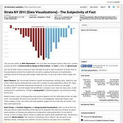 Strata NY 2011 [Data Visualizations] - The Subjectivity of Fact