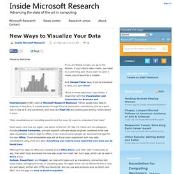 New Ways to Visualize Your Data - Inside Microsoft Research