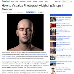 How to Visualize Photography Lighting Setups in Blender