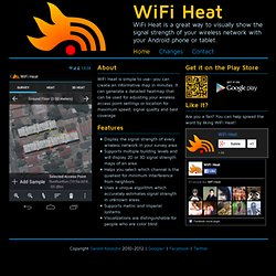 WiFi Heat - Visualize the strength of your wireless network