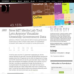 New MIT Media Lab Tool Lets Anyone Visualize Unwieldy Government Data