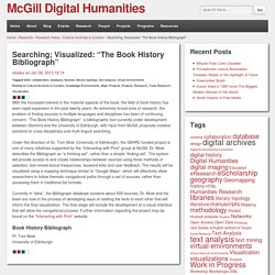 "Searching; Visualized: ""The Book History Bibliograph"""