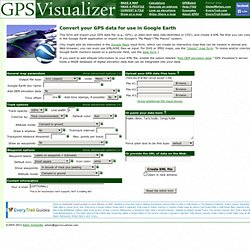 Map a GPS data file with Google Earth