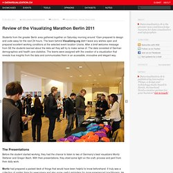 Review of the Visualizing Marathon Berlin 2011 on Datavisualization