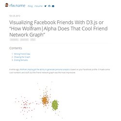 "Visualizing Facebook Friends With D3.js or ""How Wolfram"