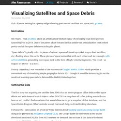 Visualizing Satellites and Space Debris