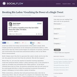 Company Blog - Breaking Bin Laden: visualizing the power of a single tweet