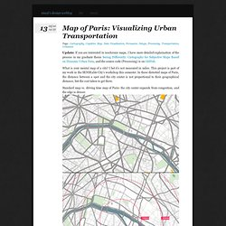 Xiaoji Chen's Design Weblog » Map of Paris: Visualizing Urban Transportation