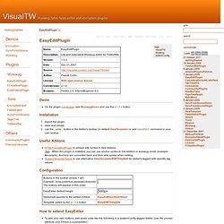 VisualTW - Wysiwyg, tabs, fields editor and encryption plugins