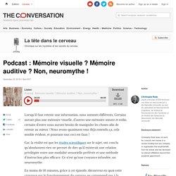 Podcast: Mémoire visuelle? Mémoire auditive? Non,neuromythe!