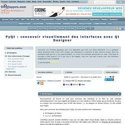 PyQt : concevoir visuellement des interfaces avec Qt Designer