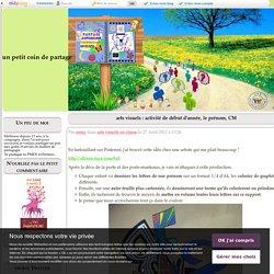 arts visuels : activité de début d'année, le prénom, CM