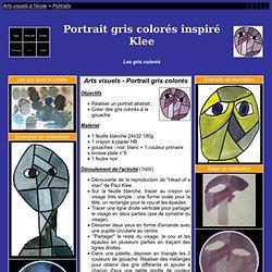 Portrait gris colorés comme Klee