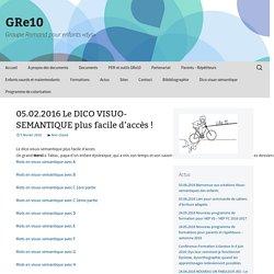 05.02.2016 Le DICO VISUO-SEMANTIQUE plus facile d'accès !
