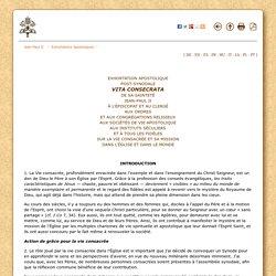 Exhortation apostolique sur la vie consacrée (1996) {Jean Paul II}
