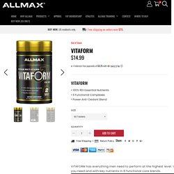 Perform Workout At Highest Level - Allmax Nutrition