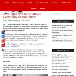 Vital Signs of a Heart Attack Everybody Should Know