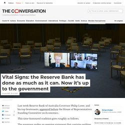 Vital Signs: the Reserve Bank has done as much as it can. Now it's up to the government