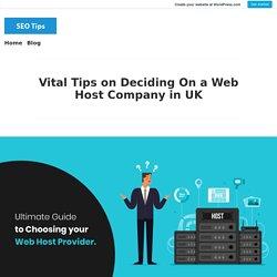 Vital Tips on Deciding On a Web Host Company in UK