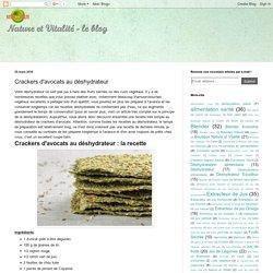 Nature et Vitalité: Crackers d'avocats au déshydrateur