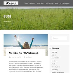 HB Vitality Blog Organic Health Products and Home Business
